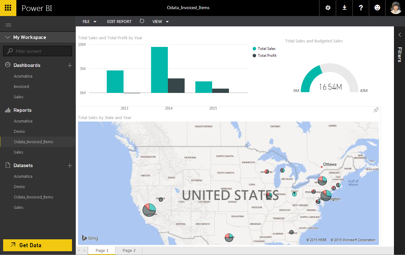 Acumatica and Power BI
