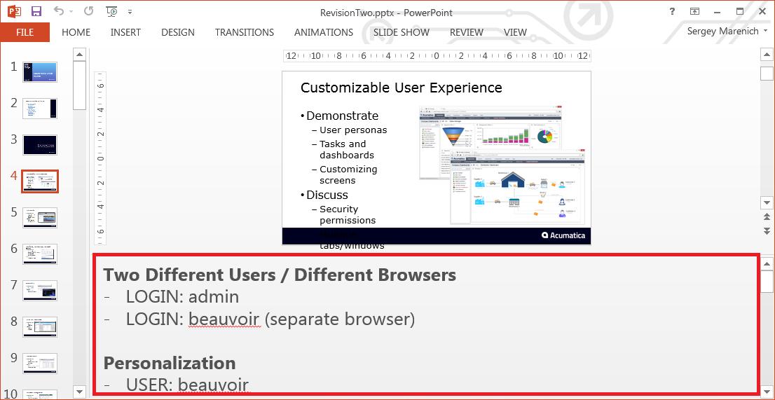 Acumatica Partner Portal - Demonstration Presentation