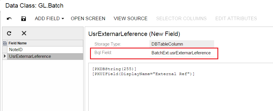 Acumatica Custom Field Attributes Modification