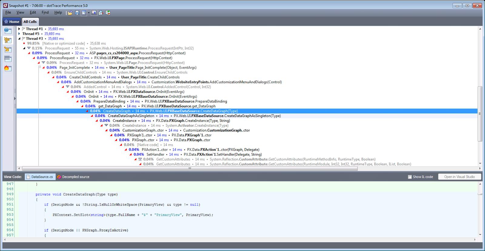 JetBrains Dot Trace Prefomance