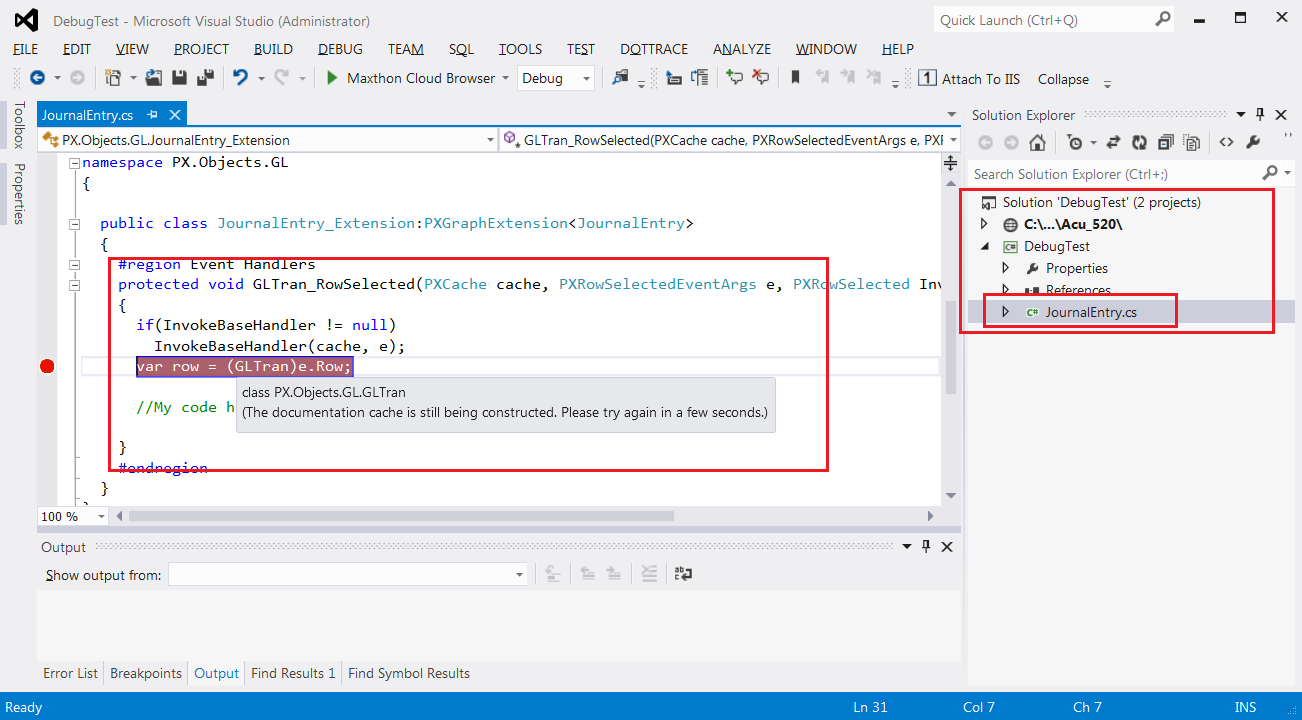 Acumatica Custom Code in Visual Studio