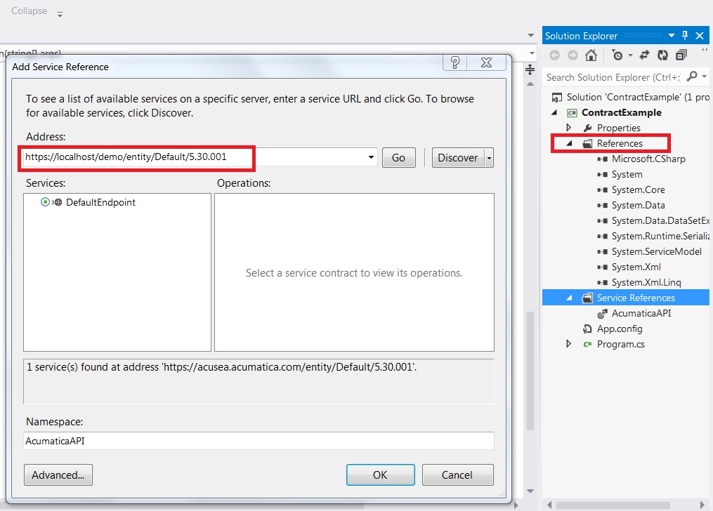 Contract-Based API Add Reference to Visual Studio