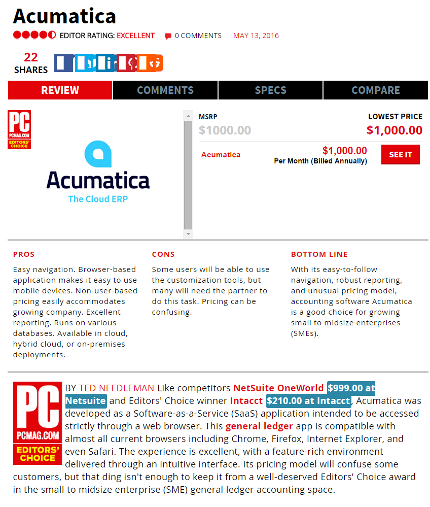 Acumatica is PCMag