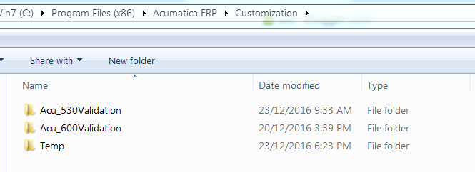 CustomizationTempFilesPath acumatica