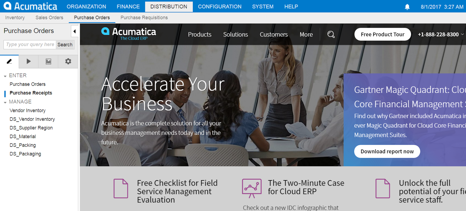 redirects from Acumatica