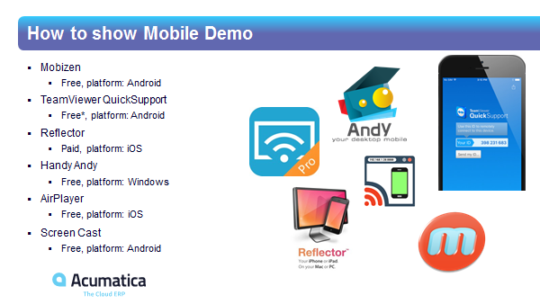 Acumatica mobile application