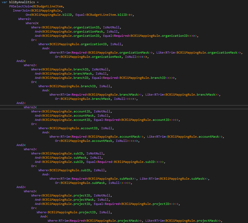 Example of a big BQL query